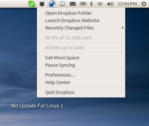 Dropbox Menu For Linux