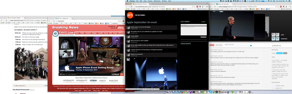 Apple Fall Keynote Watching